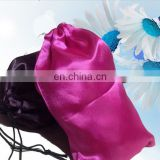 white black red pink satin gift bag/satin hair bag/silk bags for hair