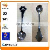 custom london inverted triangle logo metal black enamel paint promo spoon
