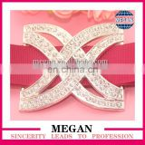 Wholesale rhinestone cross buckles for wedding invitations ribbon embellishment