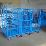 Warehouse foldable transport industrial trolley cart