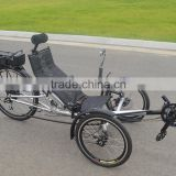 Electric Reverse Single People Recumbent Trike For Sale