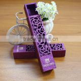 Hot Sale European Customized Laser Purple Wedding Candy Favor Box                                                                         Quality Choice
