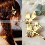 Branch Bobby Pin Gold Leaves Hair Pin Clips
