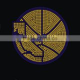 Basketball pattern ball sports rhinestone heat transfer designs                                                                                                         Supplier's Choice