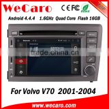 Wecaro WC-VL7060 Android 4.4.4 car multimedia system in dash for volvo xc90/v70 touch screen car dvd player android bluetooth                                                                         Quality Choice