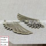 Wholesale jewelry accessories metal craft zinc alloy big angel wings pendant