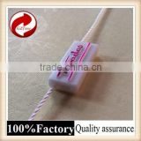 Fashional good quality plastic seal tag with logo string seal pig ear tag