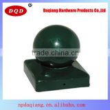 China Top Sale 141x141mm Orbicular Shape Round Metal Fence Post Caps with Daqiang Supply