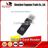 Promotion gifts 2 in 1 USB 3.0 SDHCSDXC MicroSD Card Reader ,USB3.0 Adapter Converter Tool