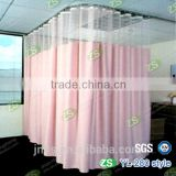 Polyester Yarn Dyed Antibacterial Hospital Ward Bed Curtain with Mesh