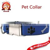 dog collar - bones n' paws blue dog collar - big boy dog collar - large dog collar - dog collar with metal buckle