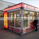 Multi-function use modern street food kiosk for sale, street food kiosk design, retail store with CE approved