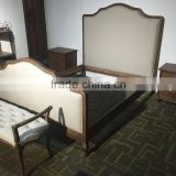 Classical style wooden frame king size bedroom furniture antique bed