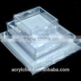 2015 high quality wholesale acrylic serving tray,Clear Fashion Acrylic Tray with Plastic Edges for Holding Drinks