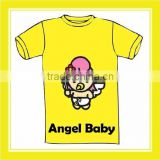 Hot Promotion Product Bros Angel Baby Yellow Short Sleeve T-shirt