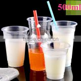 500ml, 600ml and 660ml Disposable PP Clear Plastic Cup with Dome Lid