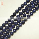 Wholesale high quality natural stone blue glod stone button faceted jewelry