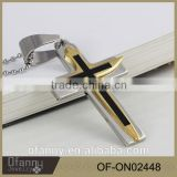 Simple mens metal stainless steel cross, gold cross, black cross pendant necklace designs                                                                         Quality Choice