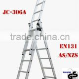 Professional manufacture Aluminium 3-section ladder Extension ladder EN131