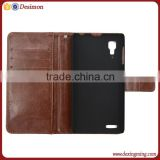 Luxury wallet design leather flip cover for lenovo p780 smart case