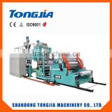 stretch film making and rewinding machine