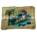Fabric linen cotton embroidery patch