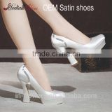 Wholesale OEM ODM elegant lady shoe woman fabric lace wedding shoes high heels