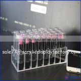 24 compartment acrylic lipstick holder,acrylic rotating lipstick tower,12 lipstick acrylic storage display stand