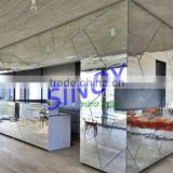ISO 9001 and SGS quality guarantee glass mirror supplier exterior wall glass cladding
