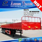 Good quality Tri axles flat deck drop side truck trailer type new semi trailer price