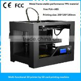 2015 New design hot style desktop SD card 3D printer PLA/ABS printer home office industrial 3D printing machine for sale