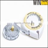 Yellow White Name Brand Printing Wholesale Body Fat Healthy Mini BMI Calculator with Tape Measure