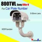 sony exview had ii 800TVL effio-v surveilance camera waterproof car plate license number security camera
