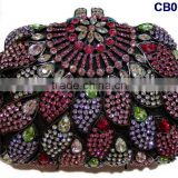 CB0132-3 multi color rhinestone new fashion popular style wholesaler factory costy handbag for matching dress for party