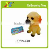 "6"" soft rubber dog toy with BB wlistle"