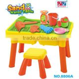 2015 Hualian Main Product ,Sand and water table Set With Stool & Board Solar Toy Set