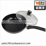 Aluminum nonstick coating electric fry Pans with glass cover
