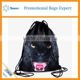 3d animal polyester backpack school bag large drawstring bags                                                                                                         Supplier's Choice