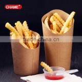 Disposable potato chip scoops french fries kraft paper chip boxes
