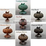 Beautiful and Various color of Lotus Incense burner at Cost-effective , gold plated-finish also available