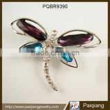 Fashion silver wedding jewelry big diamond suit butterfly brooch pin