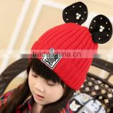 MZ3122 Baby Toddler Winter Beanie Warm Cat ear knitted hats 2015