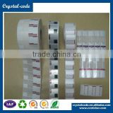 Wholesale fast delivery laminating durable permanent adhesive jewelry label