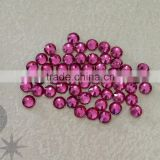 Wholesale machine cut crystal beads rose flatback hotfix rhinestone for shose bags and apparels