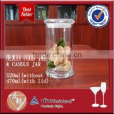 Good sealing transparent 500ml glass jar with cork lid                                                                         Quality Choice