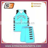 Stan Caleb USA Dry fit fabric team wear basketball uniform OEM custom sublimation USA basketball jersey