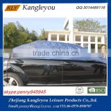 Blue polyester sun protection car cover