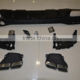W166 GLE63 AMG rear diffuser with exhaust tips muffler pipe