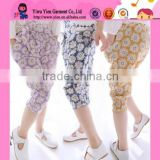 Hot Sale Flowers Printed Fashion Casual Five Point Pants Wholesale Girls Harem Pants Summer 2015