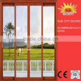SC-AAD082 2016 New design low price double glass door with venetian blinds aluminum garage door,main door